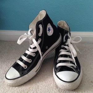 Black Converse Hightops